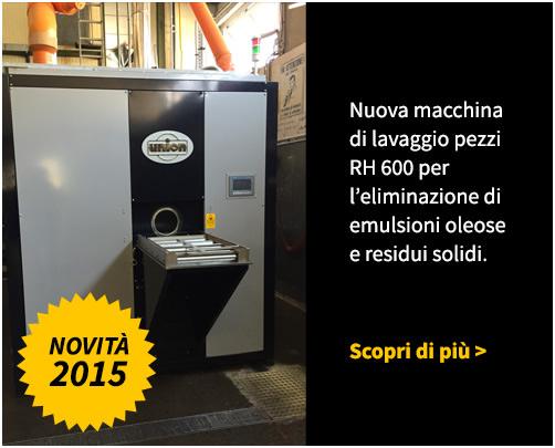 Nuova macchina di lavaggio pezzi RH600